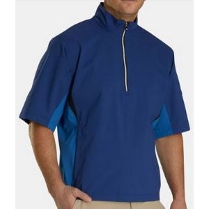 FootJoy® Hydrolite™ Short Sleeve Pullover Rain Shirt (Twilight+Blue Marlin)