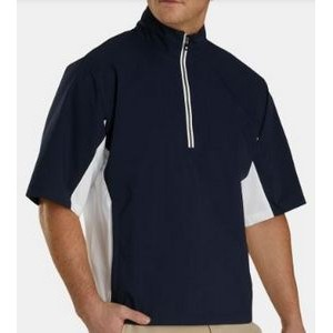 FootJoy® Hydrolite™ Short Sleeve Pullover Rain Shirt (Navy+White/Black)