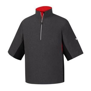 FootJoy® Hydrolite™ Short Sleeve Rain Shirt (Heather Charcoal+Black/Red)