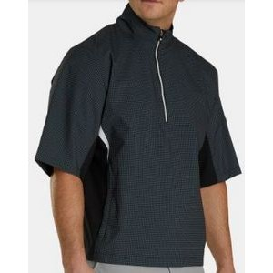 FootJoy® Hydrolite™ Short Sleeve Pullover Rain Shirt (Charcoal+Black Houndstooth)